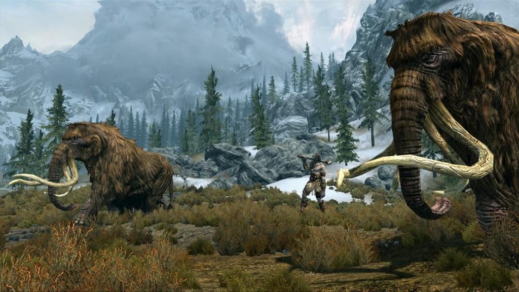 Skyrim-Mammoths